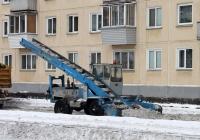 Погрузчик КО-206АН #0829 ХО 24 на уборке снежной массы . Красноярский край, Железногорск, Советская улица