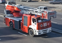 Пожарная автолестница  АЛ-32(53605) (Metz L32) на шасси КамАЗ-53605 #409 ВО 02 . Алматы, проспект Рыскулова