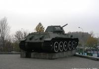 Танк Т-34-76 #326  на постаменте. Москва, Поклонная улица