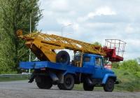 Автоподъёмник АП-17А на шасси ГАЗ-3307 #К 446 МВ 36. Белгородская область, г. Валуйки, улица Энергетиков