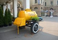 Прицеп-цистерна АЦПТ-0,9 на шасси ТАПЗ-755А. Москва, Садовая-Триумфальная улица