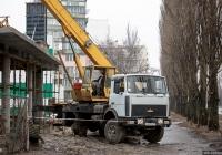 Автокран КТА-14* на шасси МАЗ-5337 #АА 9173 СІ . Киев, Березняковская улица
