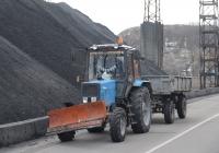 Трактор Беларус-920 с двухосным прицепом 2 ПТС-4*. Киевская область, г. Украинка