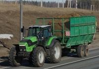 Трактор Deutz-Fahr Agrotron L720 с полуприцепом ПС-45. Московская область, Рузский район