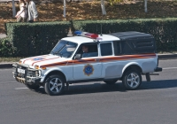 Автомобиль пожарной службы на базе ВАЗ-2329. Алматы, улица Саина