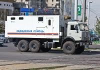 Автомобиль медицинской помощи КЧС на шасси КамАЗ-43118. Алматы, улица Толе би
