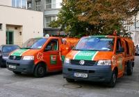 Мусоровозы на базе Volkswagen Transporter T5  #3A8 0908 и #7A3 4374. Чехия, Прага