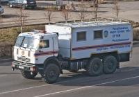 Автомобиль Республиканского оперативно-спасательного отряда на шасси КамАЗ-43118. Алматы, улица Саина