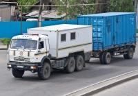 Автомобиль Республиканского оперативно-спасательного отряда  на шасси КамАЗ-43118. Алматы, проспект Рыскулова