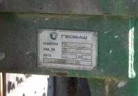 Заводска табличка буровой установки ПБУ-2-314 на шасси Камаз-43114 #В 011 РС 161. Севастополь