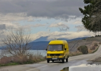 Фургон Mercedes-Benz T1 #А 497 ОО 82. Крым, Морское, шоссе Алушта - Феодосия