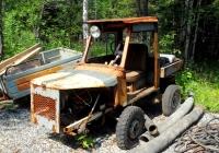 Самодельный автомобиль на агрегатах ЛуАЗ-969А. Свердловская область, гора Качканар