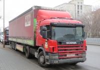 Седельный тягач Scania P114 330 #Р 600 АК 04 с полуприцепом. Курган, улица Карла Маркса