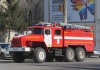 Пожарная автоцистерна АЦ-5,5-40(5557)-005МИ на шасси Урал-5557-40 #У 555 КВ 45. Курган, улица Куйбышева