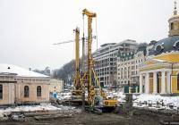 Буровая машина Bauer BG 20. Киев, Почтовая площадь