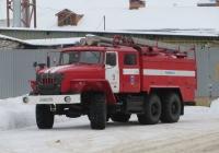 Пожарная автоцистерна АЦ-5,5-40(5557)-005МИ на шасси Урал-5557 #Е 526 ЕТ 45. Курган, улица Куйбышева