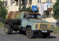 Ассенизационная машина АНМ-53  на шасси ГАЗ-53-12 #С 7195 АИ. Абхазия, Сухум, улица Лакоба