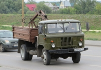Автосамосвал ГАЗ-САЗ-3511 с КМУ на шасси ГАЗ-66-31 #В 664 ЕМ 45. Курган, улица Климова