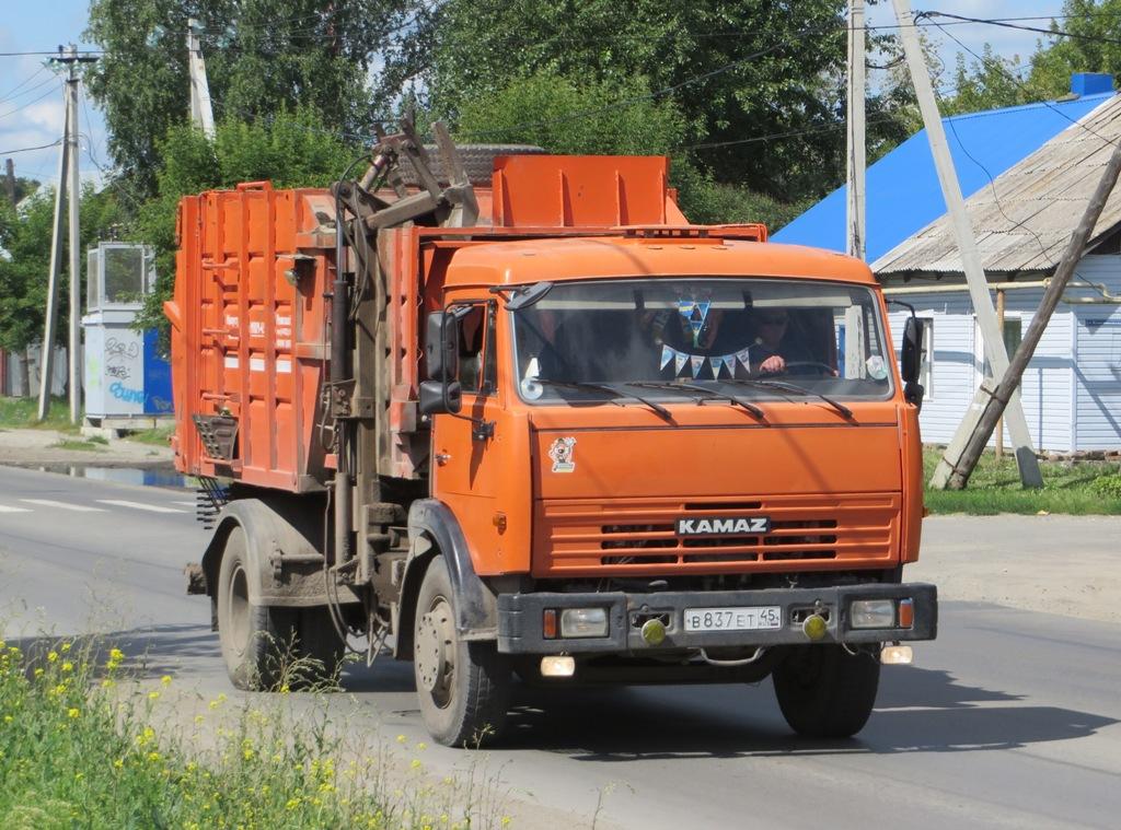 Мусоровоз МКМ-4503 на шасси КамАЗ-43253 #В 837 ЕТ 45. Курганская область, Шадринск, улица Ефремова