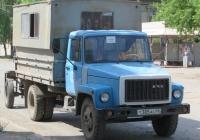 Съёмный кузов-фургон СКФ-1 на ГАЗ-3307 #Т 385 АС 45. Курган, улица Куйбышева