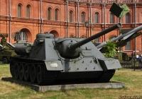 100-мм самоходная установка СУ-100. Санкт-Петербург, Музей артиллерии, инженерных войск и войск связи