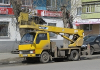 Автоподъёмник Aichi SK-151 на шасси Mitsubishi Canter #С 692 ЕТ 45. Курган, улица Куйбышева