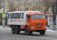 Вахтовый автобус НефАЗ-4208* на шасси КамАЗ-43114-15. Курган, улица Коли Мяготина