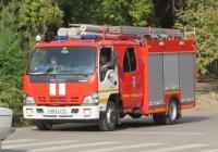 Пожарная автоцистерна АЦ-2,0-40/2(NQR75P) на шасси Isuzu NQR 75 R #Н 983 КА 45. Курган, улица Максима Горького
