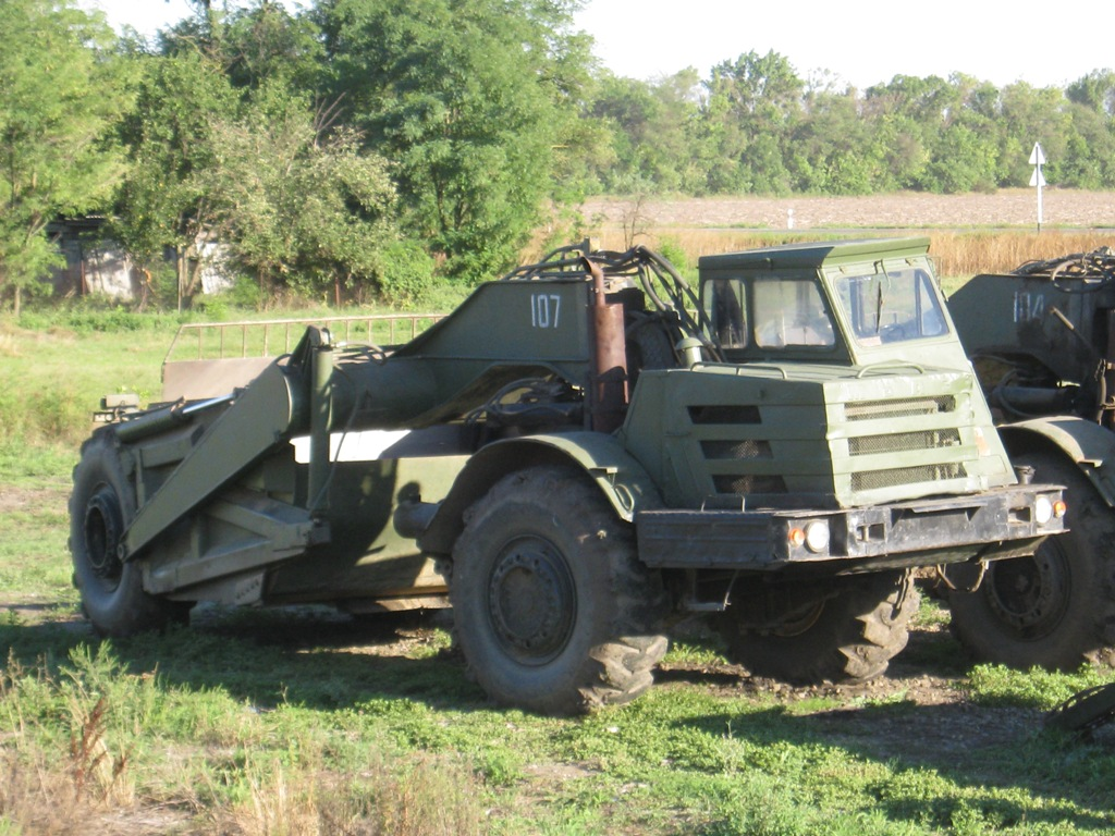 Скрепер Д-357П на базе тягача МоАЗ-546П. Краснодарский край