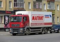 Изотермический фургон Schmitz Cargobull M.KO 7.7 FP 25 на шасси MAN TGS 28.360 #Н 252 ЕС 37. Курган, улица Коли Мяготина