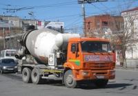 Автобетоносмеситель Tigarbo 7АD  на шасси КамАЗ-65115 #В 790 КХ 45. Курган, Пролетарская улица