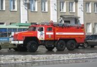 Пожарная автоцистерна АЦ-5,5-40(5557)-005МИ на шасси Урал-5557 #У 010 КВ 45. Курган, улица Куйбышева