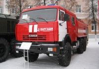 Аэродромный пожарный автомобиль АА-8,5/(40-60)-50/3(43118)-30АВР на шасси КамАЗ-43118. Курган, улица Гоголя
