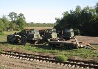 Скреперы Д-357П на базе тягача МоАЗ-546П и МоАЗ-6014 на шасси МоАЗ-6442. Краснодарский край