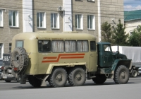 Вахтовый автобус КАвЗ-42243 на шасси Урал-4320 #Е 368 РА 74. Курган, улица Куйбышева