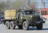 Автомобиль ЗиЛ-131А #С 555 КК 45 с компрессорной станцией ПВ-10/8М. Курган, Станционная улица