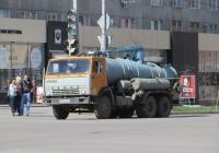 Ассенизационная машина КО-507А на шасси КамАЗ-53213 #В 006 КМ 45. Курган, улица Ленина