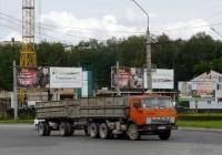 КамАЗ-55102 #5034 ТЕТ с двухосным прицепом. Тернополь, проспект Степана Бандеры
