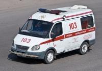 """Автомобиль СМП  на базе ГАЗ-22172 """"Соболь"""" A 029 CV. Алматы, улица Саина"""