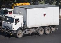 Медицинский автомобиль на базе КамАЗ-53215 #283 AB 02. Алматы, проспект Рыскулова
