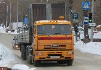 Седельный тягач КамАЗ-65116 #Е 559 АС 154 с полуприцепом. Новосибирск, улица Добролюбова