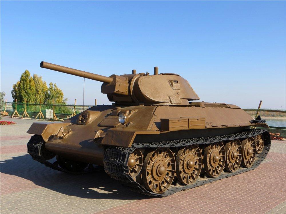 "Средний танк Т-34-76. Волгоград, Выставка у музея ""Сталинградская битва"""