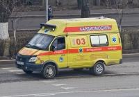 "Кардиомобиль на базе ГАЗ-32214-32 ""ГАЗель"" #A 907 FC. Алматы, улица Саина"