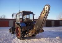 Экскаватор траншейный на базе трактора Беларус-82.1. Тюмень