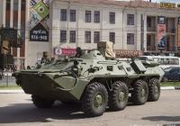 Разведывательно-поисковая машина РПМ-2 на базе БТР-80 #1767 ТМ 50. Иваново, площадь Победы