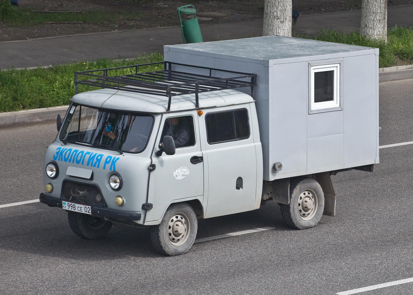 Автомобиль экологической службы на шасси  УАЗ-39094 #998 CE 02. Алматы, проспект Рыскулова