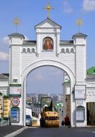 Каток Caterpillar . Украина, Киев, Киево-Печерская лавра