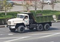 Самосвал модели  АС-583100 на шасси Урал-55571-31 #221 WN 02, принадлежащий  ВС Республики Казакстан . Алматы, улица Саина