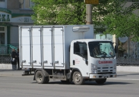 Фургон 373202 на шасси  Isuzu NL #М 839 КР 45. Курган, улица Куйбышева