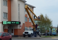 Автовышка ВС-22-02 на шасси ГАЗ-3307  #Е 622 ВТ 31. Белгородская область, г. Алексеевка, улица Тимирязева